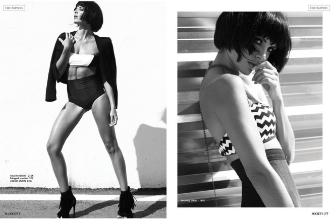 White and Black - Fashion editorial for Elle Morgan Boutique