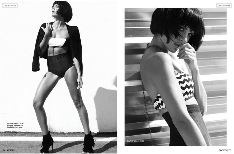 White and Black - Fashion editorial for Elle Morgan Boutique